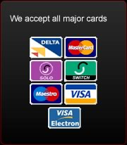 we accept all major cards